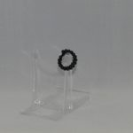 Black Pearl Memory Wire Ring
