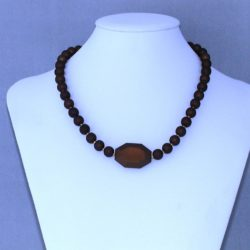 Brown Round Bead Necklace