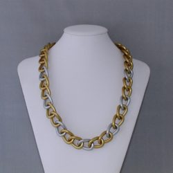 Chunky Matt Silver Rings Gold Rings Necklace