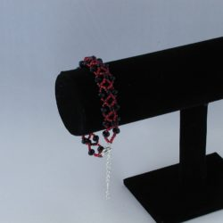 Black Red Crosses Bracelet
