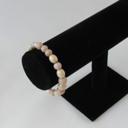 Two Tones Beige Beads Bracelet