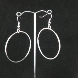 Extra Large Silver Hoop Ear Rings