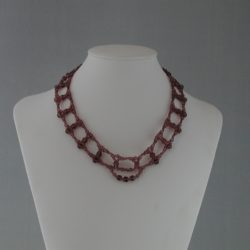 Amethyst Beads Seed Beads Choker Necklace