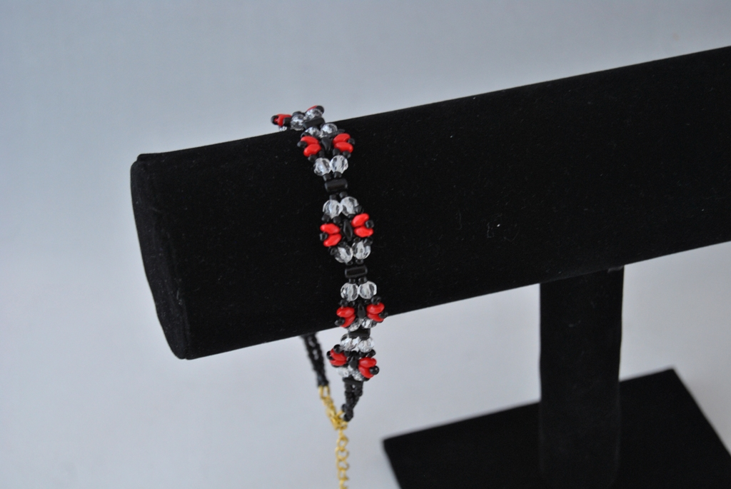 Red Duo Bead Crystal Rondelle