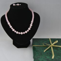 Rose Quartz Malay Jade Two Piece Set
