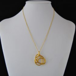 Gold Wire Abstract Formed Necklace