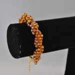 Amber Brown Seed Beads Twisted Bracelet