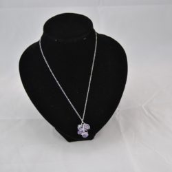 Silver Wire Wrapped Amethyst Pendant Necklace