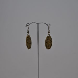 Antique Bronzed Bead Ear Rings