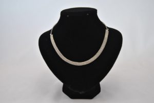 Silver Coloured Ball Chain Small Links Chain Necklace