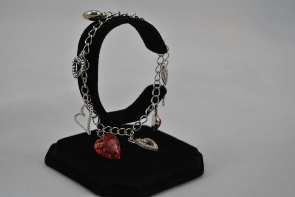 Mixed Heart Charms Bracelet