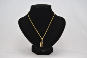 Black Gold Dangle Gold Chain Necklace