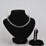 Smoke Crystal Necklace Bracelet Set