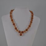Amber Two Shades Crystal Beads Necklace