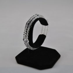 Clear Crystal Beads Memory Wire Bracelet