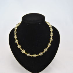Mixed Lime Green Beads Gold Beads Necklace