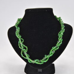 Green Beads Interlinked Necklace