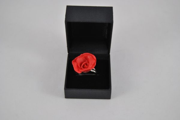 Red Clay Rose Adjustable Shank Ring