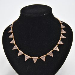 Copper Triangles Necklace