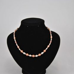 Cream Coffee Peach Pearls Necklace