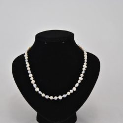 Cream Gray Pearls Necklace