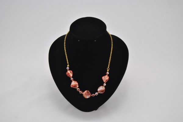 Gold Chain Red Golden Shells Necklace