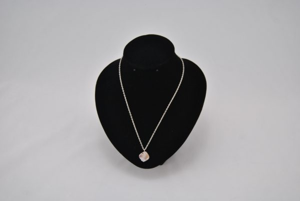 Silver Chain Pearl Shell Pendant Necklace